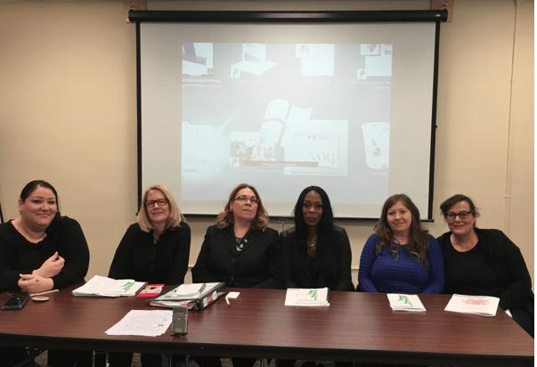 Sopravvissute attiviste di SPACE international Bridget Perrier, Cherry Jimenez, Jeanette Westbrook, Ne'Cole Moore, Fiona Broadfoot, Marie Merklinger